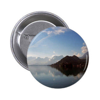Water Haze Clouds Mountains Pinback Buttons