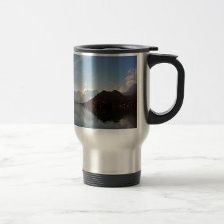 Water Haze Clouds Mountains Coffee Mugs
