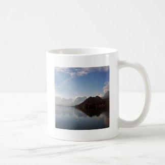Water Haze Clouds Mountains Mugs