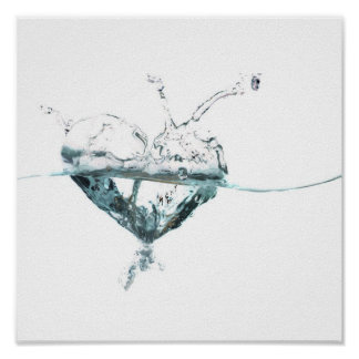 water heart poster