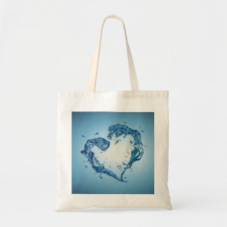 Water Heart Shape - Budget Tote