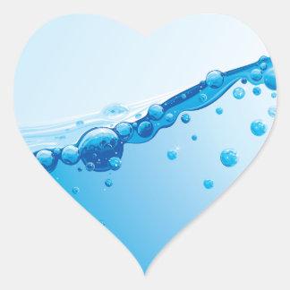 water heart sticker