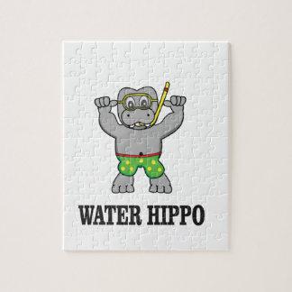 water hippo fun jigsaw puzzle