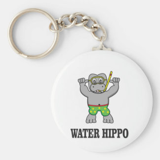 water hippo fun keychain