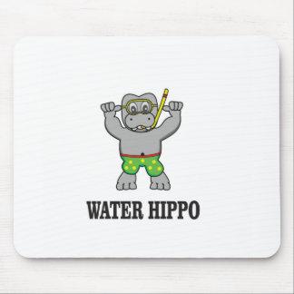 water hippo fun mouse pad