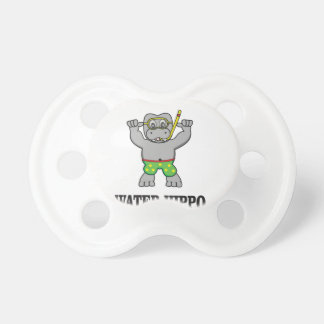 water hippo fun pacifier