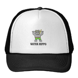 water hippo fun trucker hat