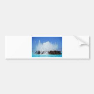 Water hitting rocks on canary islands bumper sticker