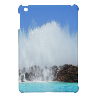 Water hitting rocks on canary islands cover for the iPad mini