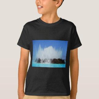 Water hitting rocks on canary islands T-Shirt