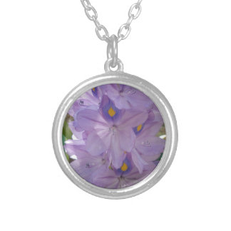 WATER HYACINTH SILVER PLATED NECKLACE