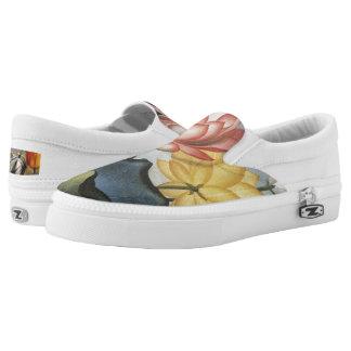 Water Hyacinths Slip-On Sneakers