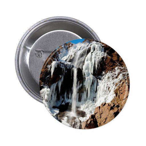 Water Ice Formation On Rocks Pinback Buttons