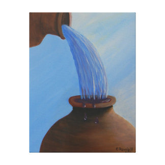 Water into wine canvas print