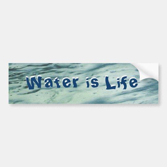 Water is Life Bumper Sticker