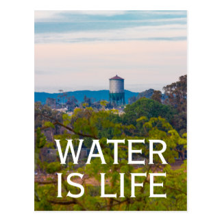 Water is Life Water Tower Environmental Ecology Postcard