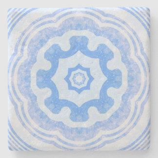 Water Kaleidoscope, Blue Design Stone Coaster