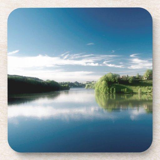 Water Lake Of Gruyere Coasters