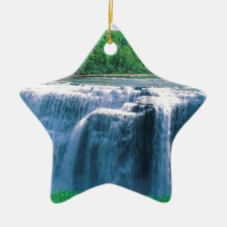 Water Letchworth State Park New York Ceramic Star Ornament