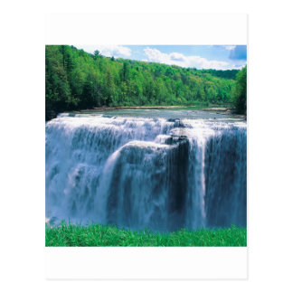 Water Letchworth State Park New York Postcard