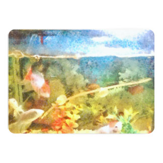 Water level in an aquarium card