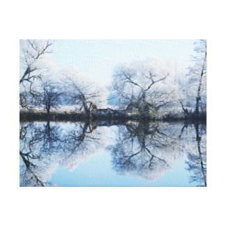 Water level to the Havel Canvas Print