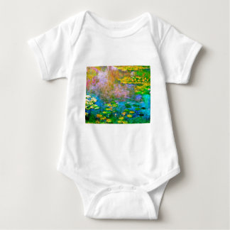 water-lilies-013 baby bodysuit