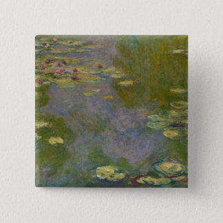 Water Lilies, 1919 2 Inch Square Button