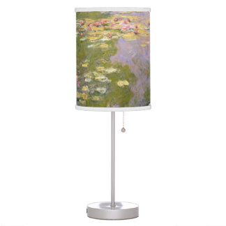 Water Lilies (1919) by Claude Monet Table Lamp
