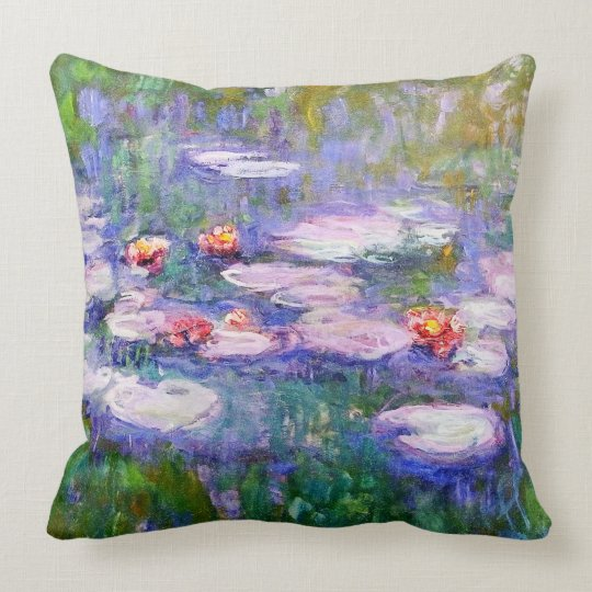 Water Lilies 1919 Claude Monet Fine Art Throw Pillow