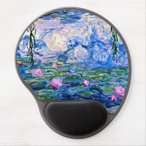 Water Lilies - 1919 Impressionism artwork Gel Mouse Pads