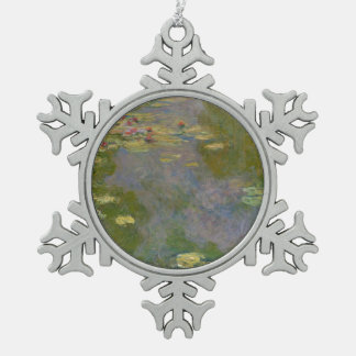 Water Lilies, 1919 Snowflake Pewter Christmas Ornament