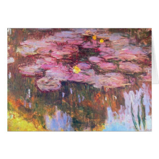 Water Lilies 3 Card