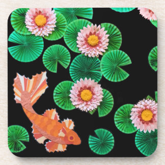 Water Lilies and Koi Fish Coasters
