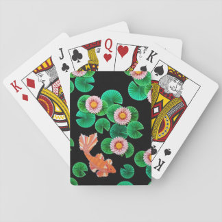 Water Lilies and Koi Fish Playing Cards