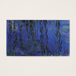 Water Lilies and Weeping Willow Branches -  Monet Business Card