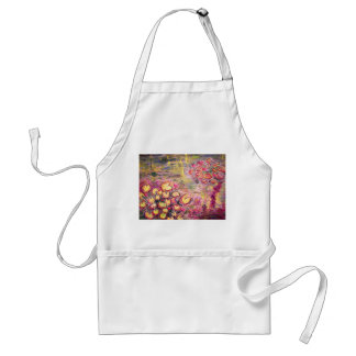 water lilies blooming standard apron