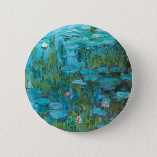 Water Lilies by Claude Monet 2 Inch Round Button