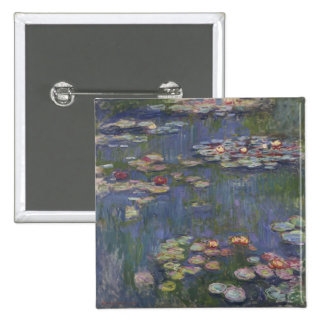 Water Lilies by Claude Monet Buttons