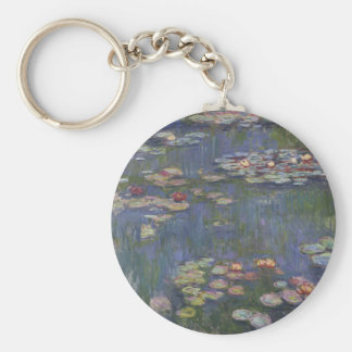 Water Lilies by Claude Monet Key Chains