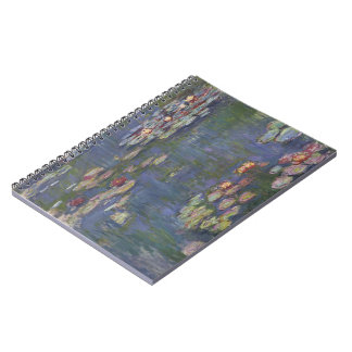 Water Lilies by Claude Monet Spiral Note Books