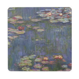 Water Lilies by Claude Monet Puzzle Coaster