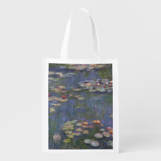 Water Lilies by Claude Monet Reusable Grocery Bag