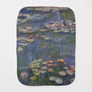 Water Lilies by Claude Monet Baby Burp Cloth