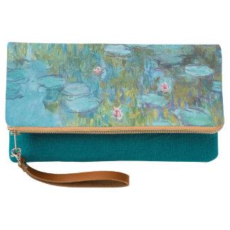 Water Lilies Claude Monet Fine Art Clutch