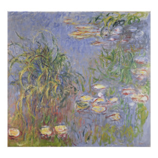 Water-Lilies, Cluster of Grass Poster