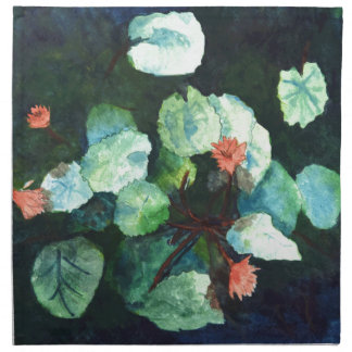 Water Lilies Collection - Napkin Blue Lilies