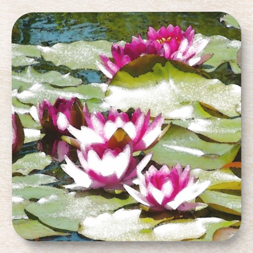 Water Lilies Beverage Coaster
