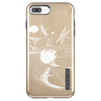 Water-lilies engraving incipio DualPro shine iPhone 8 plus/7 plus case