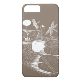 Water-lilies engraving iPhone 8 plus/7 plus case